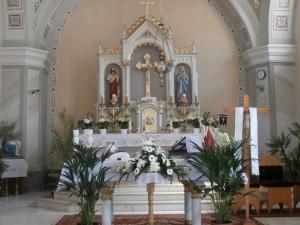 Interiér rímsko katolíckeho kostola v Šoltýske